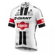 Maillot Cyclisme Manche Courte Giant Alpecin TDF Edition Blanc 2017 Vendre