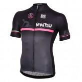 Maillot Cyclisme Manche Courte Giro D'Italie Noir-Rose 2017 Rabais en ligne
