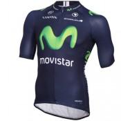 Maillot Cyclisme Manche Courte Movistar Equipe 2016 Pas Cher