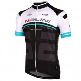 Maillot Cyclisme Manche Courte Nalini Bao Blanc-Bleu-Noir 2016 Promos