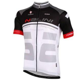 Maillot Cyclisme Manche Courte Nalini Bao Noir-Blanc 2016 à Petits Prix
