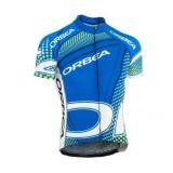 Maillot Cyclisme Manche Courte Orbea Bleu With vert Dot 2016 Ventes Privées