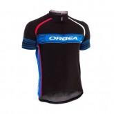 Maillot Cyclisme Manche Courte Orbea Noir-Bleu Stripe 2016 Boutique France