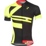 Maillot Cyclisme Manche Courte Pinarello Bandiera Noir-Jaune 2017 Site Officiel
