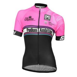 Maillot Cyclisme Manche Courte Podium Ambition Rose Femme 2017 Bonnes Affaires