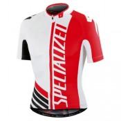 Maillot Cyclisme Manche Courte SPED Equipe Pro SZK Blanc-Rouge 2017 Promotions