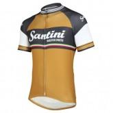 Maillot Cyclisme Manche Courte Santini Exclusive Oro Antico 2017 Soldes Marseille