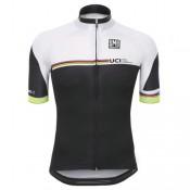 Maillot Cyclisme Manche Courte Santini UCI Rainbow Line Blanc 2017 Vendre Cannes
