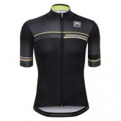 Maillot Cyclisme Manche Courte Santini UCI Rainbow Line Noir 2017 Remise Nice
