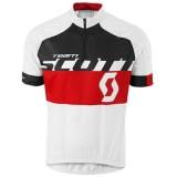 Maillot Cyclisme Manche Courte Scott Equipe Blanc-Noir-Rouge 2016 Magasin Lyon