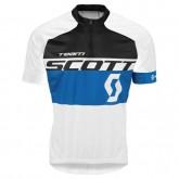 Maillot Cyclisme Manche Courte Scott Equipe Noir-Bleu-Blanc 2017 à Vendre