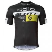 Maillot Cyclisme Manche Courte Scott ODLO Equipe Noir 2017 Site Francais