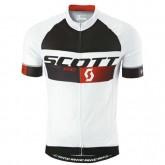 Maillot Cyclisme Manche Courte Scott RC Pro Noir-Blanc-Rouge 2016 Paris