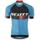 Maillot Cyclisme Manche Courte Scott RC Pro Noir-Bleu 2016 Site Officiel