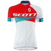 Maillot Cyclisme Manche Courte Scott RC Rouge-Blanc Femme 2016 Boutique