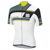 Maillot Cyclisme Manche Courte Spоrtful Gruppetto Blanc-vert 2017 Vendre à des Prix Bas