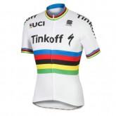 Maillot Cyclisme Manche Courte Tinkoff Race Equipe Champion du monde 2017 Boutique En Ligne