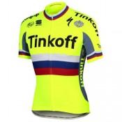 Maillot Cyclisme Manche Courte Tinkoff Russian Champion 2017 Vendre