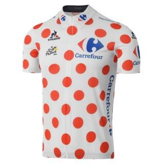 Maillot Cyclisme Manche Courte Tour De France Mountains Classification 2017 Pas Chère