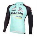 Maillot de Cyclisme Manche Longue Bianchi Active-TX Vert clair 2016 Remise prix