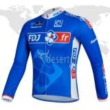 Maillot de Cyclisme Manche Longue Bleu FDJ.FR Vendre Marseille
