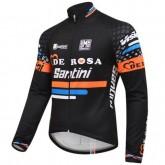 Maillot de Cyclisme Manche Longue De-Rosa Santini Noir 2016 Nouvelle