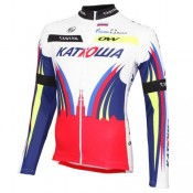 Maillot de Cyclisme Manche Longue Equipe Katusha 2016 Escompte En Lgine