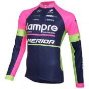 Maillot de Cyclisme Manche Longue Lampre Merida 2016 Magasin De Sortie
