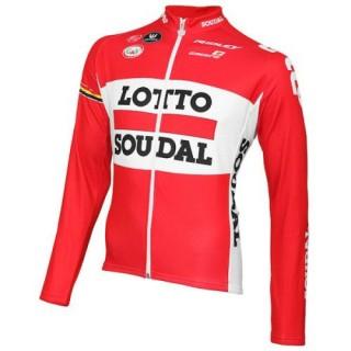 Maillot de Cyclisme Manche Longue Lotto Soudal 2016 Moins Cher