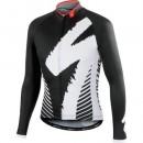 Maillot de Cyclisme Manche Longue SPED DSK Noir Et Blanc 2016 Vendre Alsace