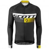 Maillot de Cyclisme Manche Longue Scott RC Pro Noir-Jaune 2016 Ventes Privées