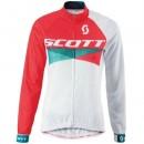 Maillot de Cyclisme Manche Longue Scott RC Rouge-Blanc Femme 2016 la Vente à Bas Prix
