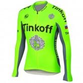 Maillot de Cyclisme Manche Longue TINKOFF SAXO BANK vert 2 Promos Code