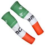 Manchettes Cyclisme BMC Blanc Orange Vert Réduction