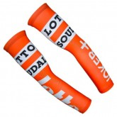Manchettes Cyclisme Lotto Orange Blanc à Vendre