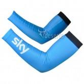 Manchettes Cyclisme Sky Bleu 2 Pas Cher Prix