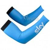 Manchettes Cyclisme Sky Bleu 3 Soldes