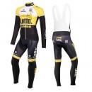 Mode Equipement 2016 Lotto NL-Jumbo Jaune Tenue Maillot Cyclisme Longue + Collant à Bretelles