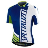 Mode Maillot Cyclisme Manche Courte SPED Equipe Pro SZK Bleu-Blanc-vert 2017