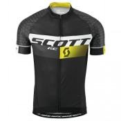 Noir Maillot Cyclisme Manche Courte Scott RC Pro Tec honeycomb 2016 Site Officiel France