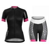 Nouveau Equipement 2017 Bontrager Trek Anara Honeycomb Femme Tenue Maillot Cyclisme Courte + Cuissard Cycliste