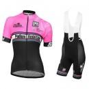 Nouvelle Collection Equipement 2017 Tenue Maillot Cyclisme Courte + Cuissard à Bretelles Podium Ambition Rose Femme