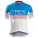 Nouvelle Collection Maillot Cyclisme Manche Courte Bontrager Trek Specter Vintage Blanc-Bleu 2017