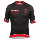 Nouvelle Collection Maillot Cyclisme Manche Courte Pinarello Dogma F8 Noir-Rouge 2017