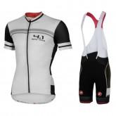 Nouvelle Equipement 2017 Tenue Maillot Cyclisme Courte + Cuissard à Bretelles Cаstelli Aero Race 4.1 Blanc
