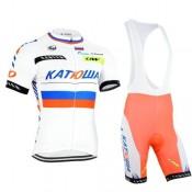 Nouvelle Equipement Tenue Maillot Cyclisme Courte + Cuissard à Bretelles katusha