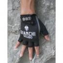 Officielle Bianchi Noir Gant Cyclisme