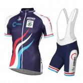 Officielle Equipement 2016 Tenue Maillot Cyclisme Courte + Cuissard à Bretelles Luxembourg Equipe