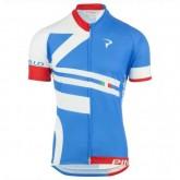 Officielle Maillot Cyclisme Manche Courte Pinarello Bandiera Bleu-Blanc 2017