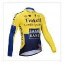 Officielle Maillot de Cyclisme Manche Longue Saxo Bank